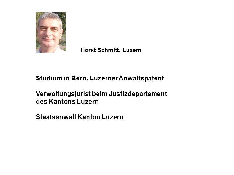 Studium in Bern, Luzerner Anwaltspatent