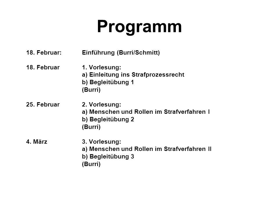 Programm 18. Februar: Einführung (Burri/Schmitt)