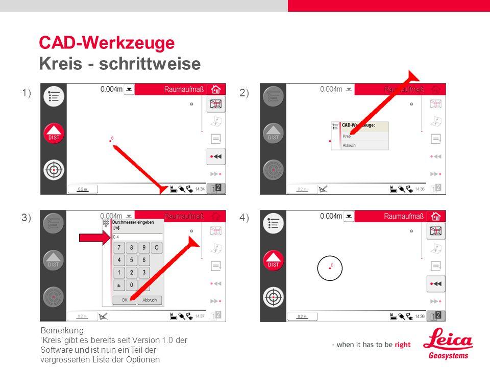 CAD-Werkzeuge Kreis - schrittweise