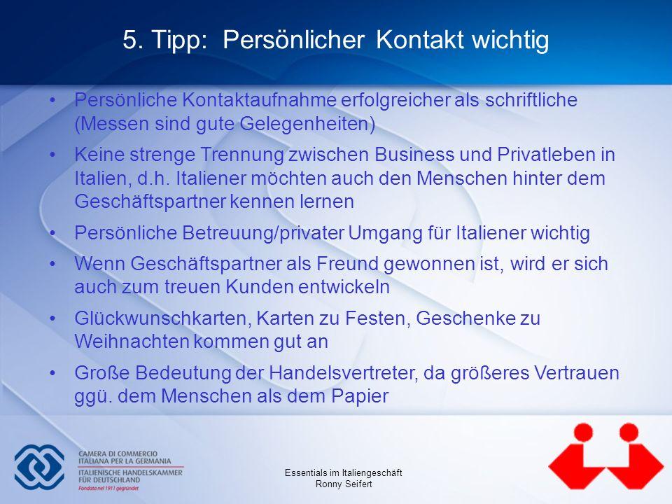 5. Tipp: Persönlicher Kontakt wichtig