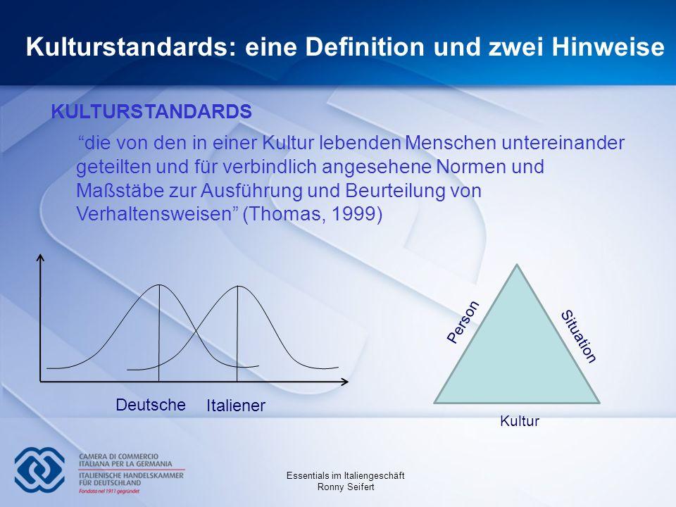 Kulturstandards: eine Definition und zwei Hinweise