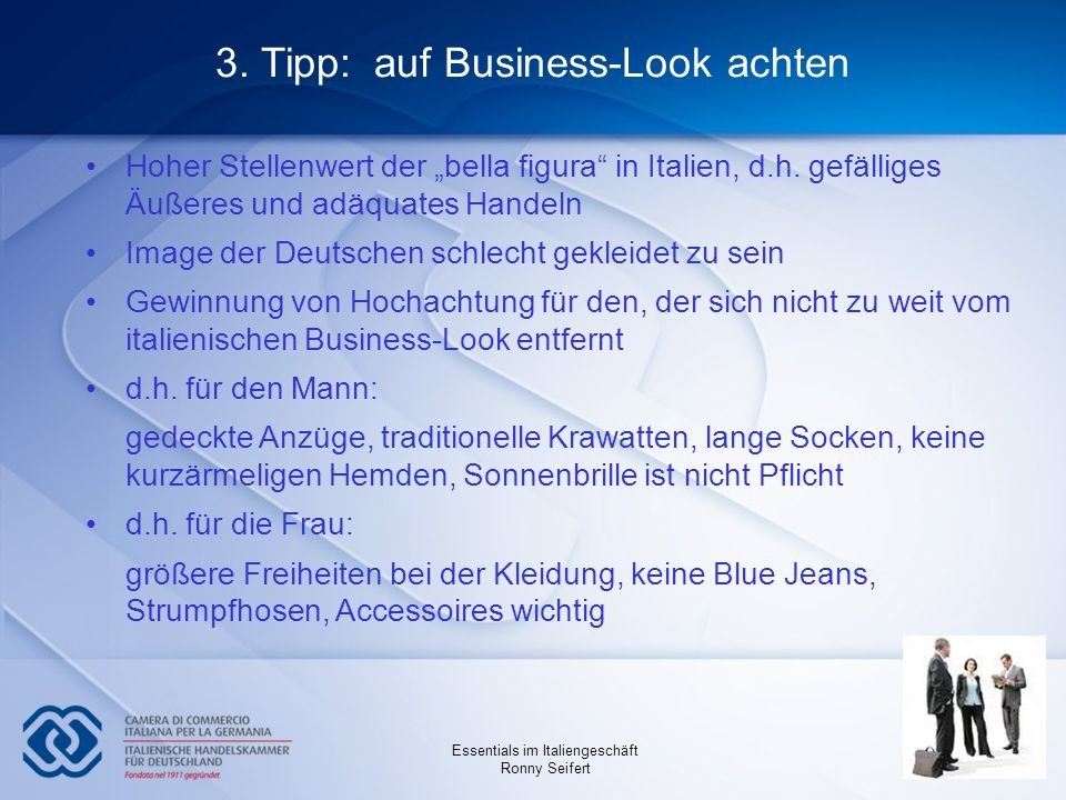 3. Tipp: auf Business-Look achten