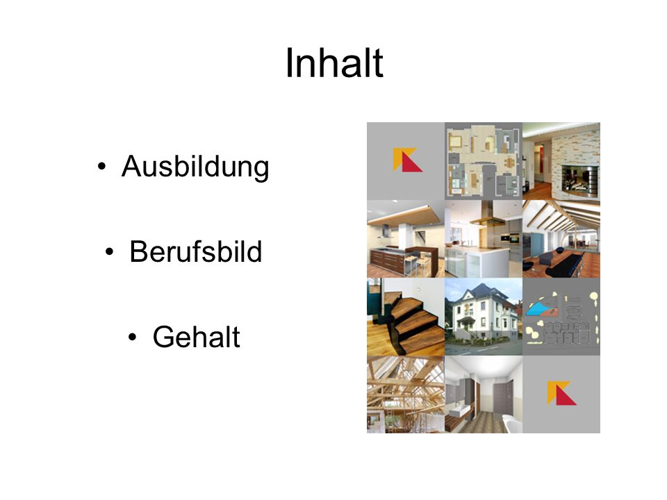 Innenarchitekt ppt video online herunterladen for Ausbildung innenarchitektin