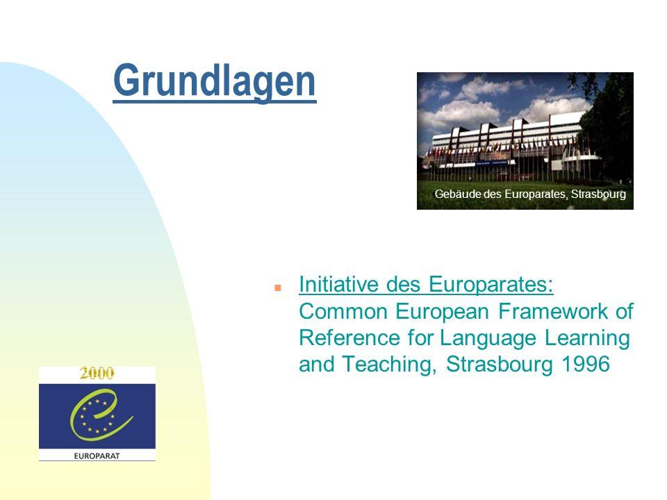 Grundlagen Gebäude des Europarates, Strasbourg.