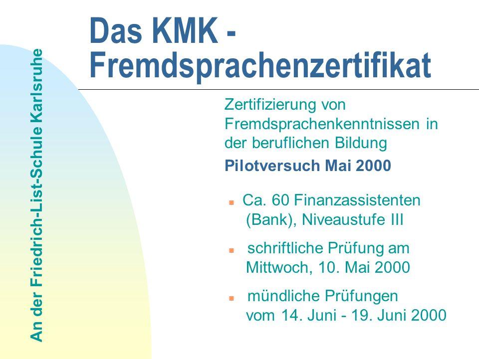 Das KMK - Fremdsprachenzertifikat