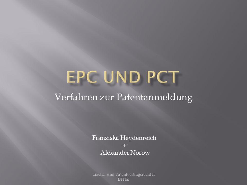 Verfahren zur Patentanmeldung