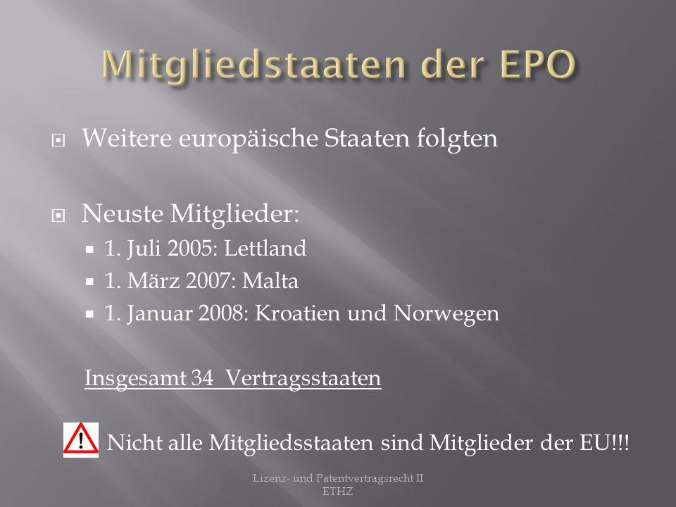 Mitgliedstaaten der EPO