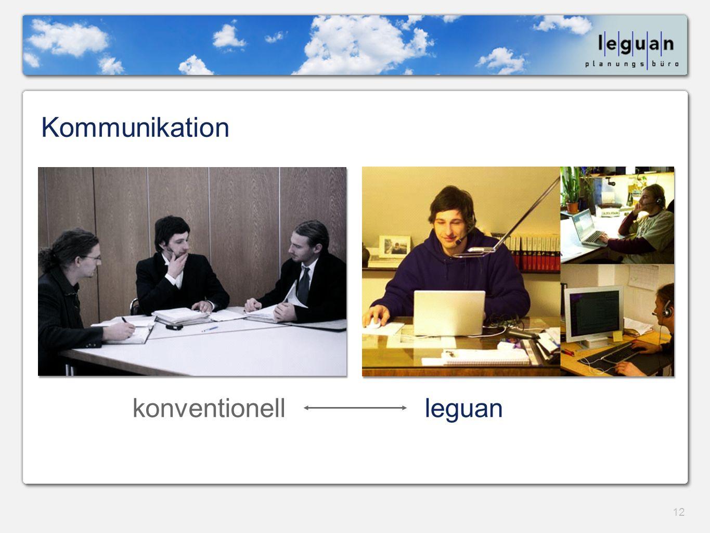 Kommunikation konventionell leguan