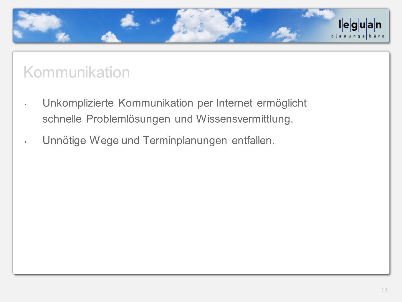 Kommunikation Unkomplizierte Kommunikation per Internet ermöglicht schnelle Problemlösungen und Wissensvermittlung.