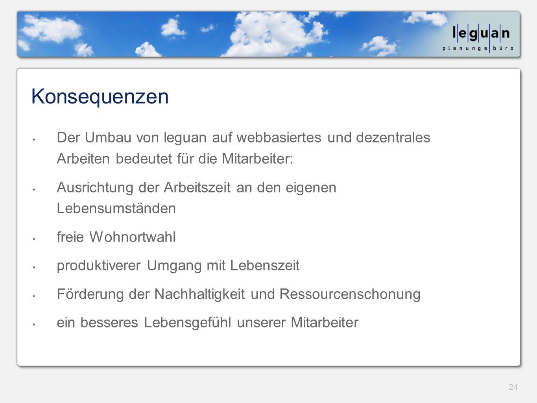 Konsequenzen Der Umbau von leguan auf webbasiertes und dezentrales Arbeiten bedeutet für die Mitarbeiter: