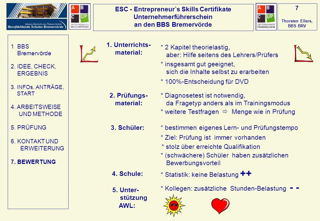 7 Thorsten Eilers, BBS BRV 1. Unterrichts-material: