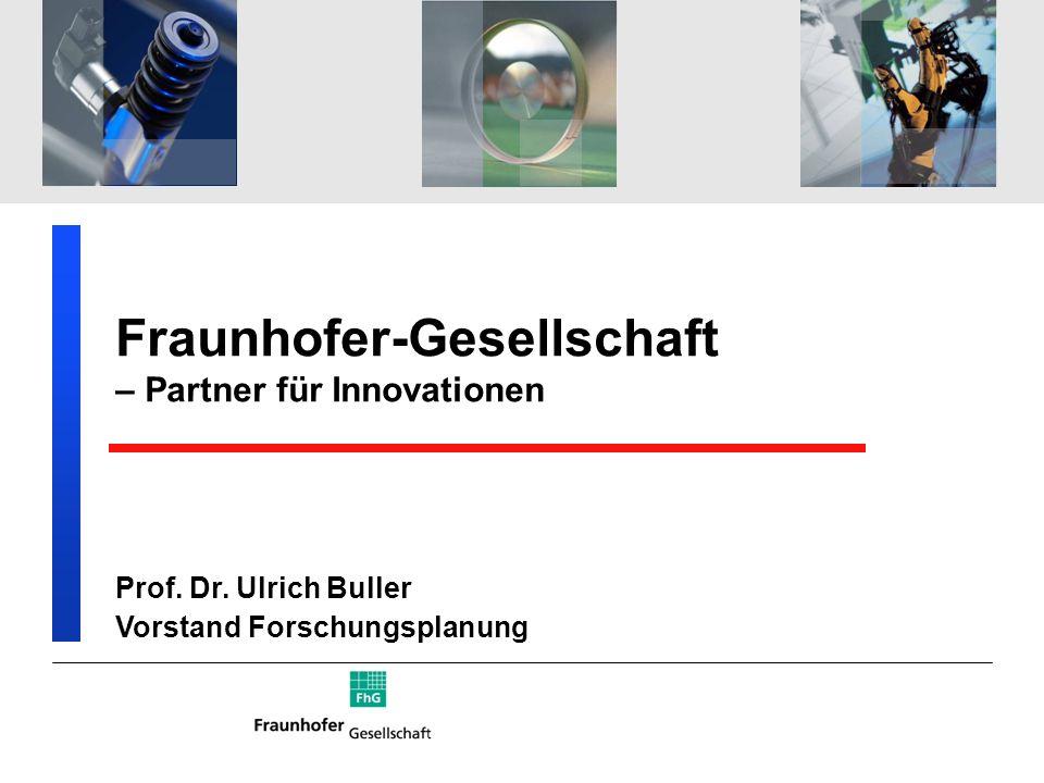 Fraunhofer-Gesellschaft – Partner für Innovationen