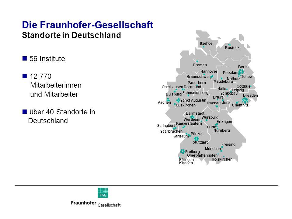 Die Fraunhofer-Gesellschaft Standorte in Deutschland