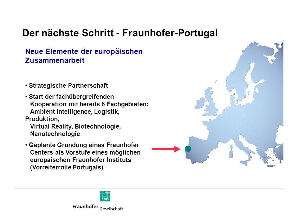 Der nächste Schritt - Fraunhofer-Portugal