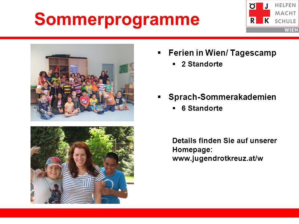Sommerprogramme Ferien in Wien/ Tagescamp Sprach-Sommerakademien