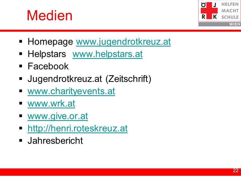 Medien Homepage www.jugendrotkreuz.at Helpstars www.helpstars.at