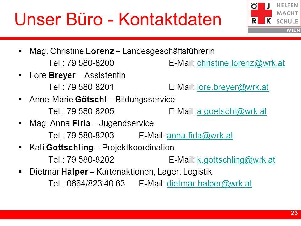 Unser Büro - Kontaktdaten