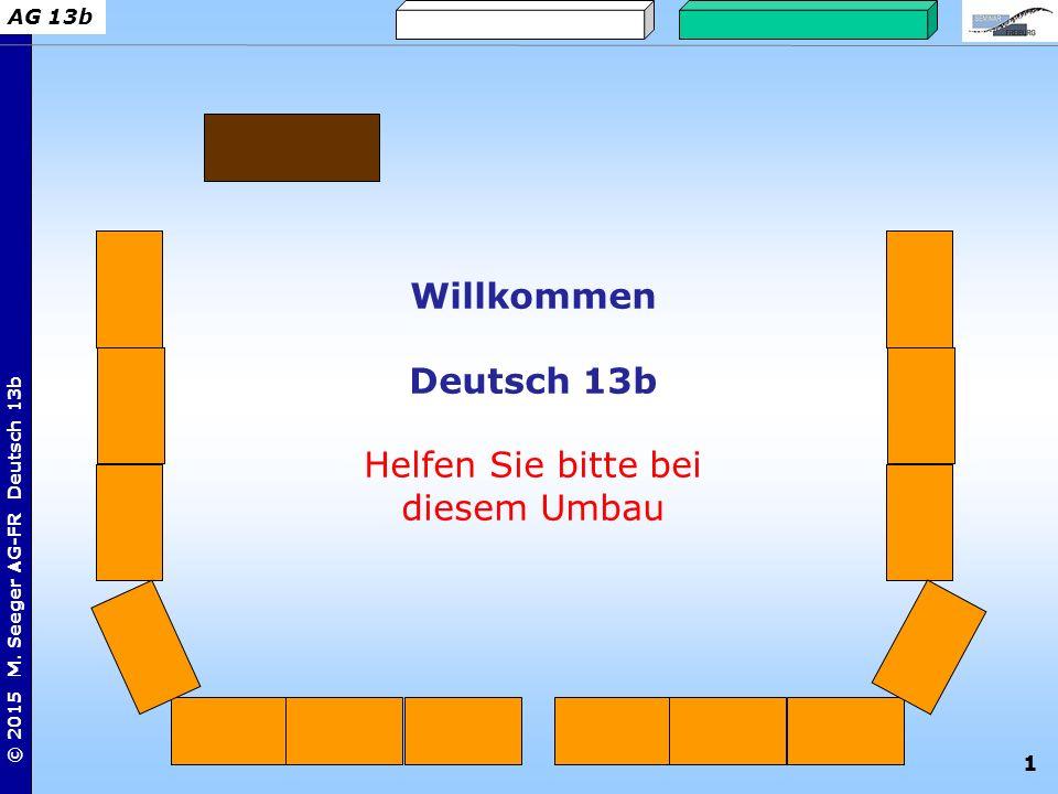 Willkommen Deutsch 13b Helfen Sie bitte bei diesem Umbau