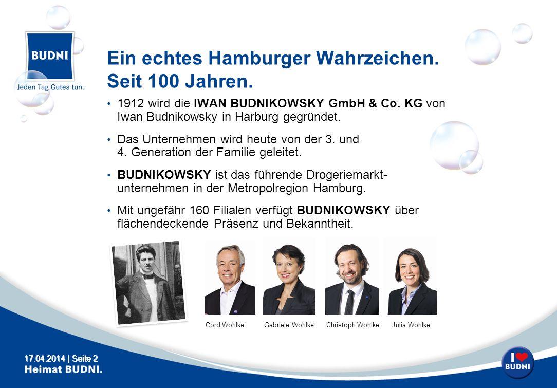 Ein echtes Hamburger Wahrzeichen. Seit 100 Jahren.