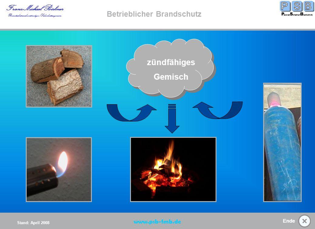 zündfähiges Gemisch Betrieblicher Brandschutz www.psb-fmb.de