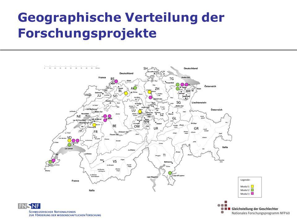 Geographische Verteilung der Forschungsprojekte