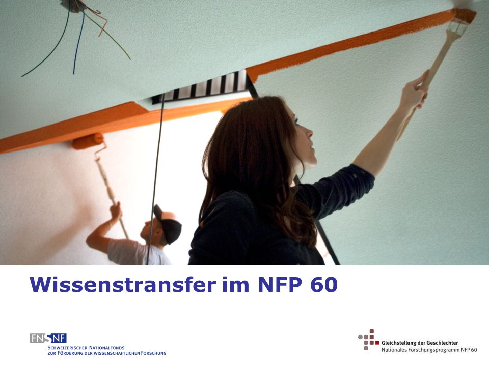 Wissenstransfer im NFP 60