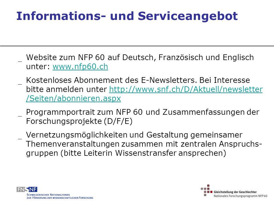 Informations- und Serviceangebot