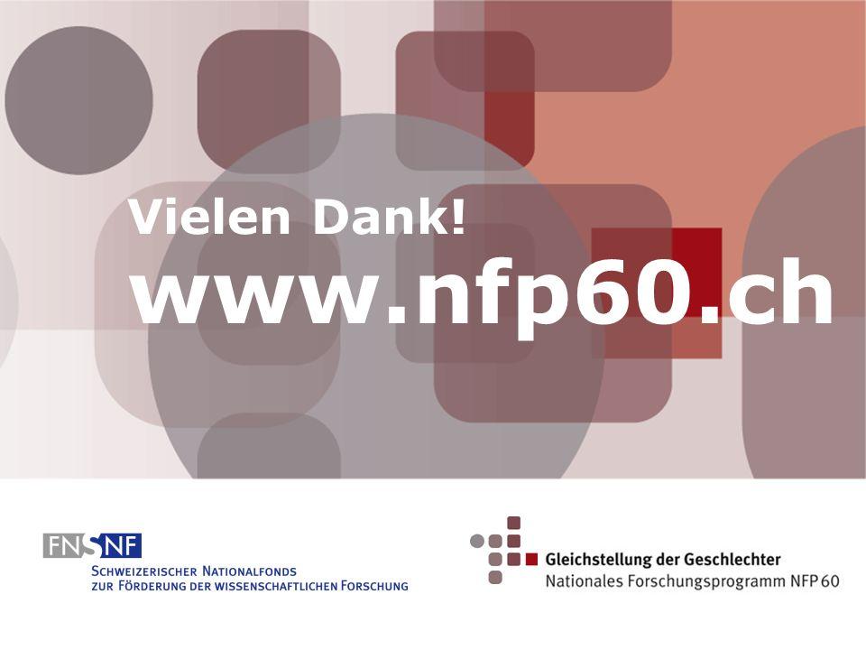 Vielen Dank! www.nfp60.ch