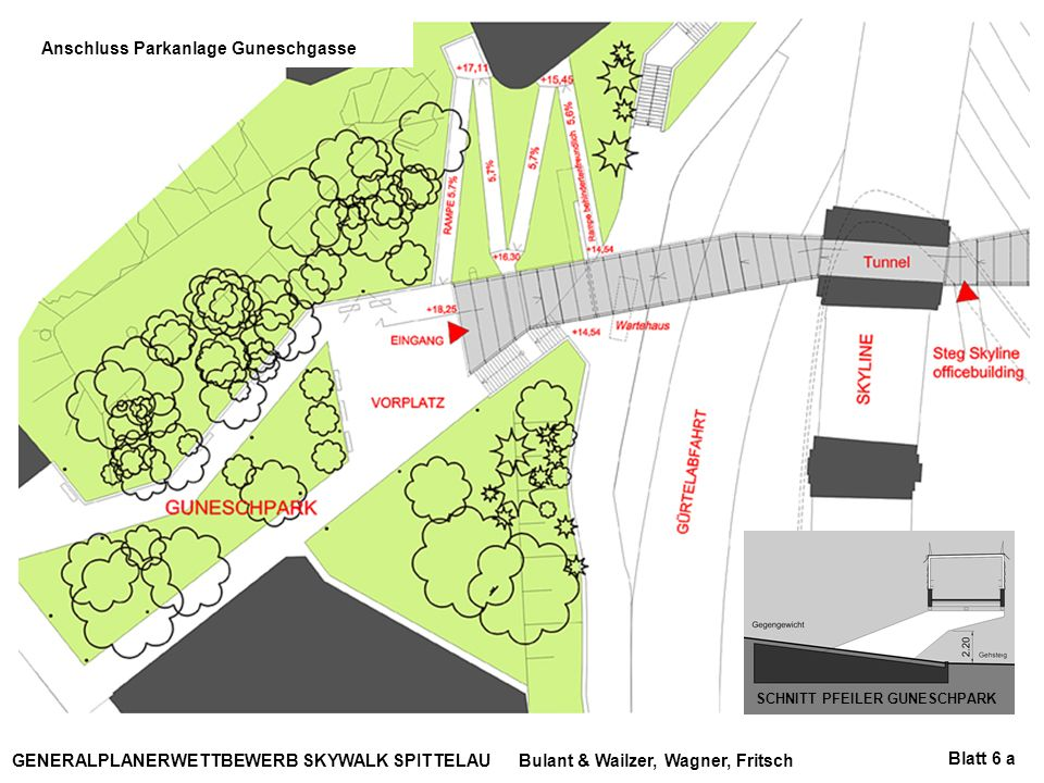Anschluss Parkanlage Guneschgasse