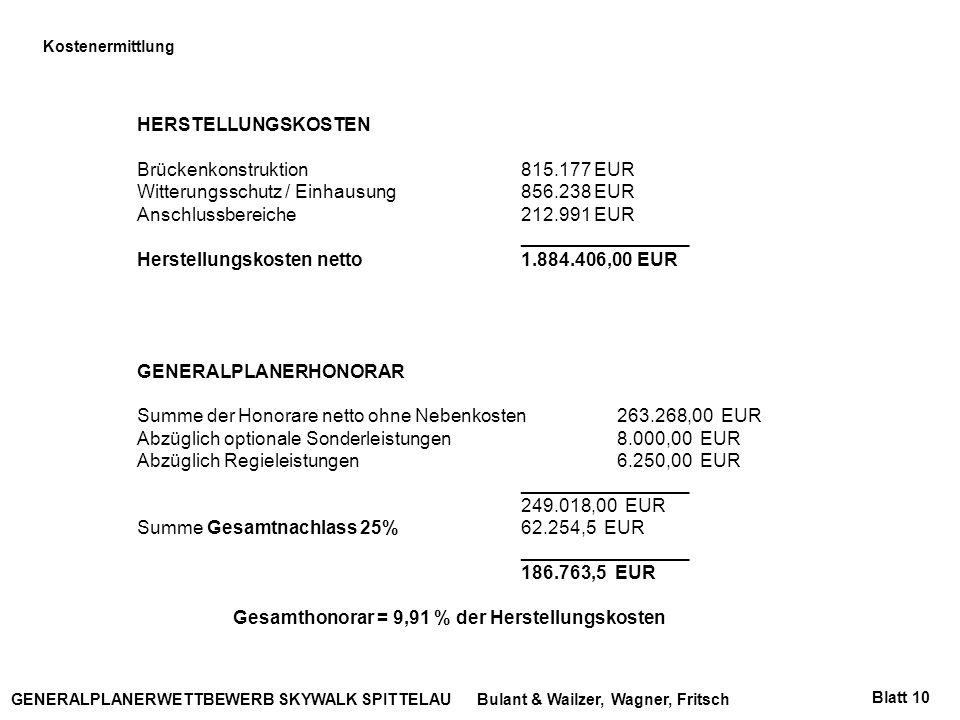 Brückenkonstruktion 815.177 EUR