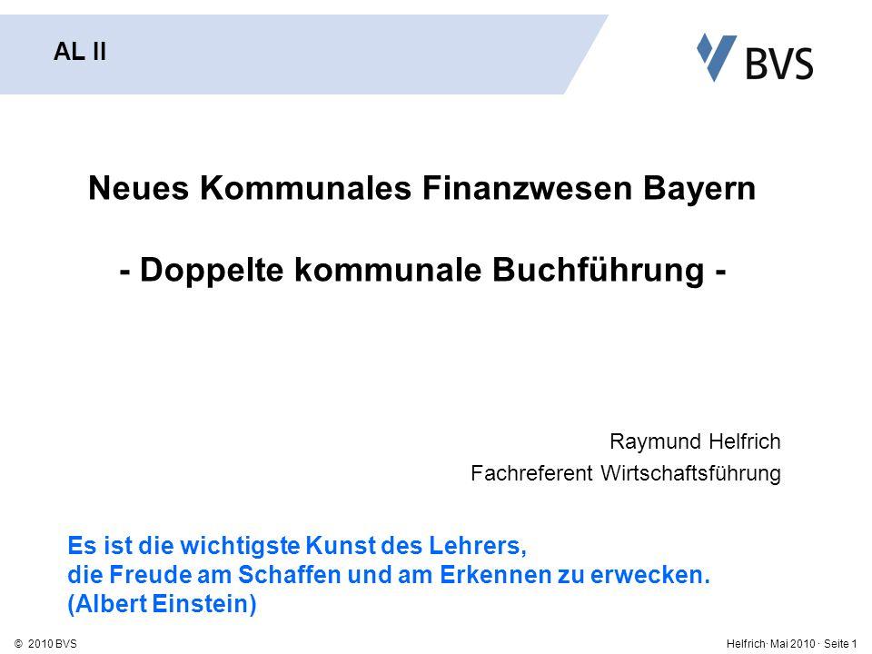 Neues Kommunales Finanzwesen Bayern - Doppelte kommunale Buchführung -