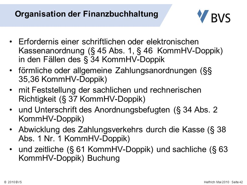 Organisation der Finanzbuchhaltung