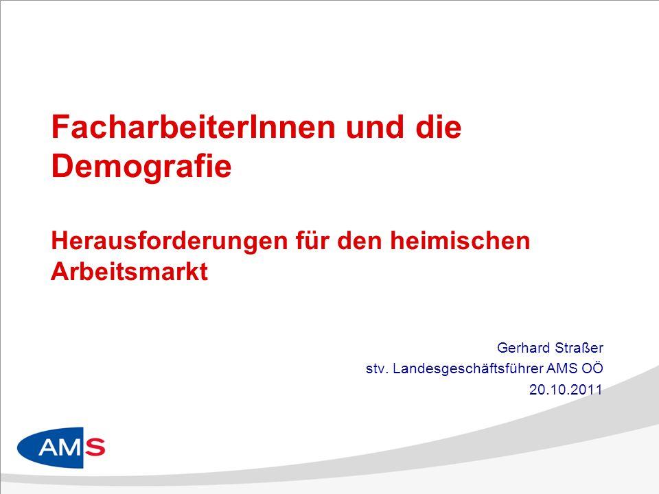Gerhard Straßer stv. Landesgeschäftsführer AMS OÖ 20.10.2011