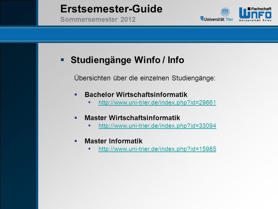 Studiengänge Winfo / Info