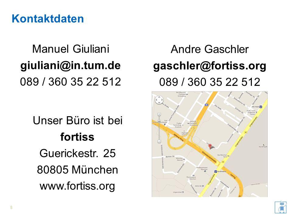 Manuel Giuliani giuliani@in.tum.de 089 / 360 35 22 512