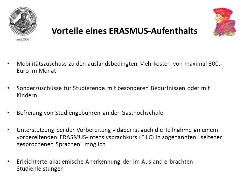 Vorteile eines ERASMUS-Aufenthalts