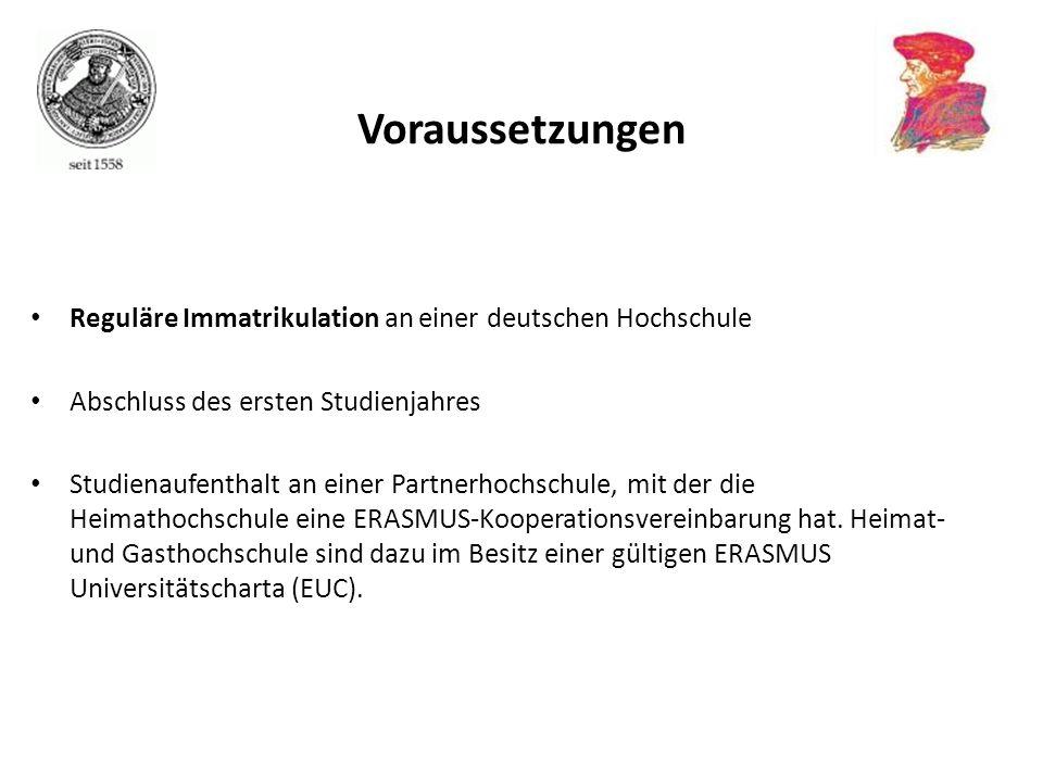 Voraussetzungen Reguläre Immatrikulation an einer deutschen Hochschule