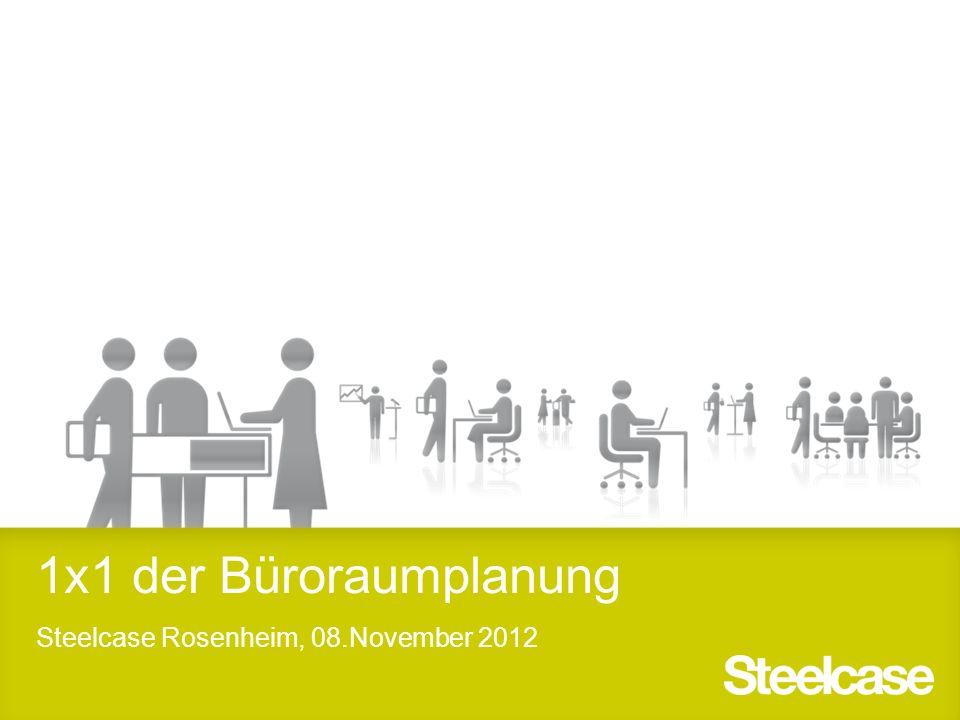 1x1 der Büroraumplanung Steelcase Rosenheim, 08.November 2012