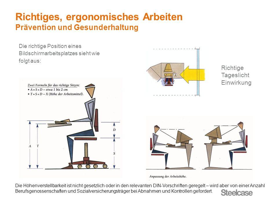 Richtiges, ergonomisches Arbeiten