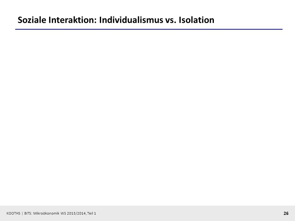 Soziale Interaktion: Individualismus vs. Isolation