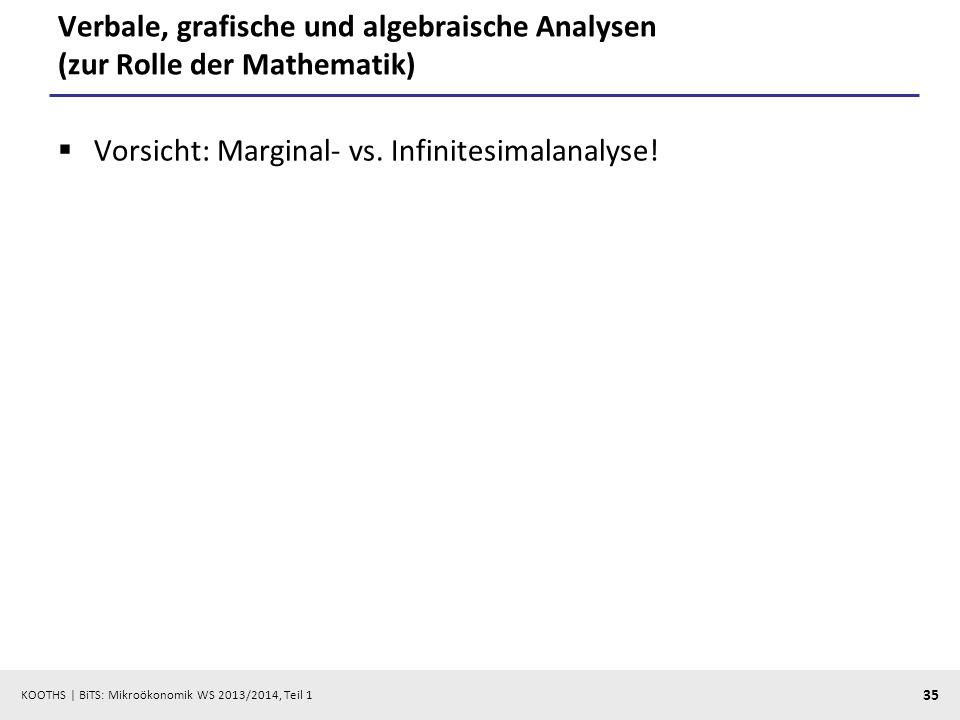 Verbale, grafische und algebraische Analysen (zur Rolle der Mathematik)