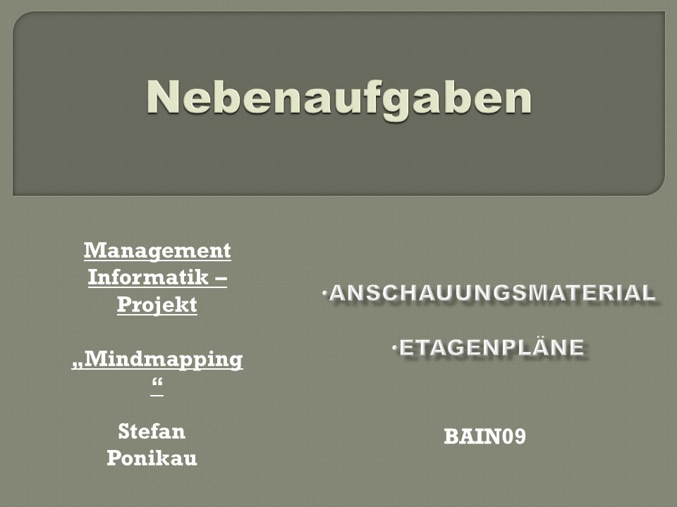 Management Informatik –Projekt