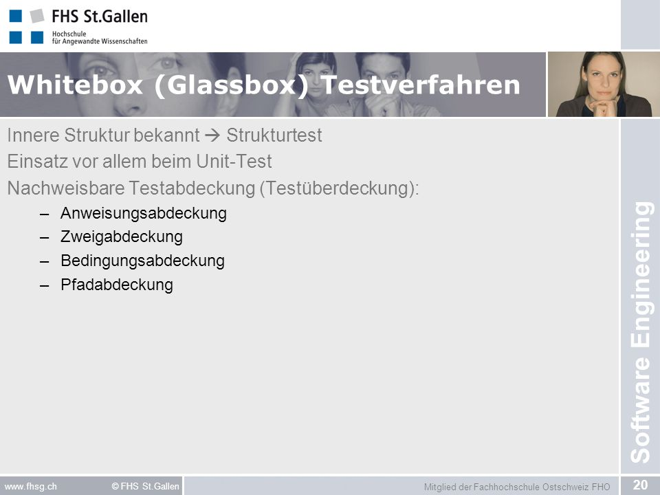 Whitebox (Glassbox) Testverfahren