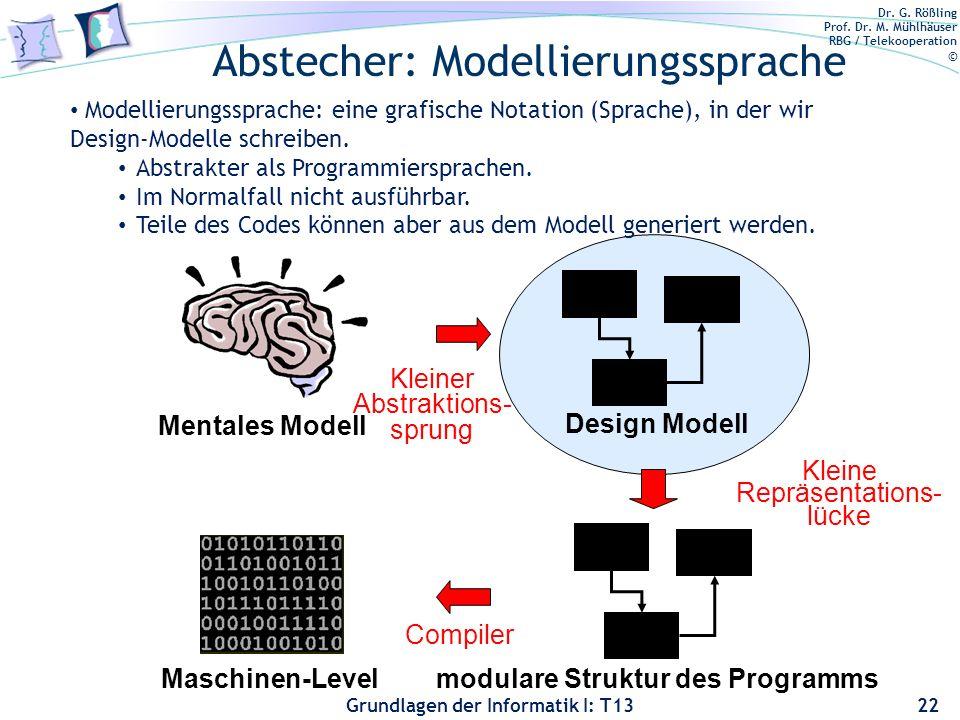 Abstecher: Modellierungssprache