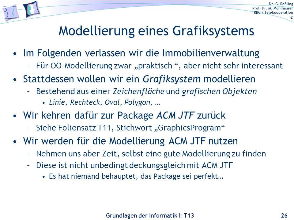 Modellierung eines Grafiksystems