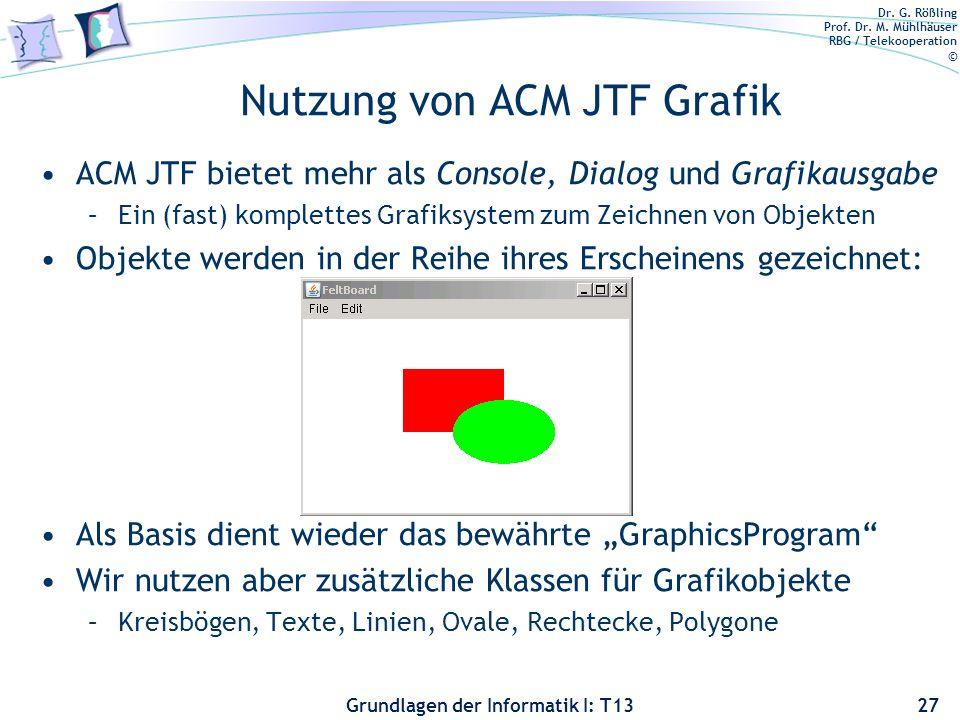 Nutzung von ACM JTF Grafik