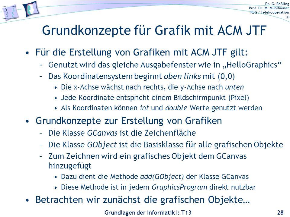 Grundkonzepte für Grafik mit ACM JTF