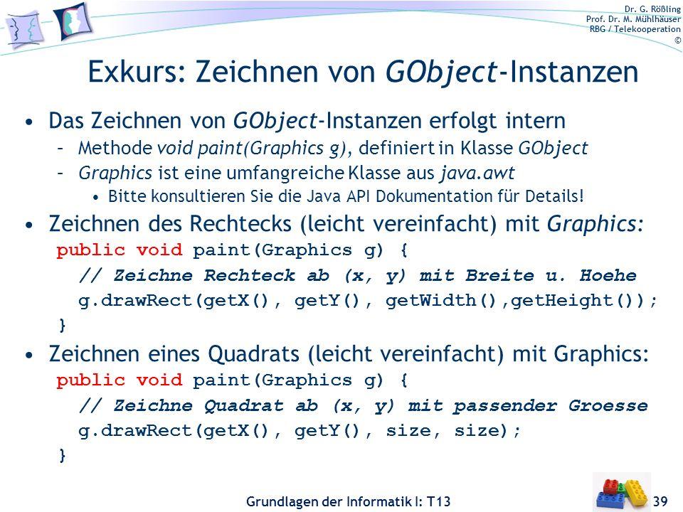 Exkurs: Zeichnen von GObject-Instanzen