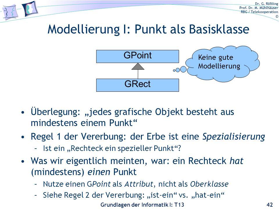 Modellierung I: Punkt als Basisklasse