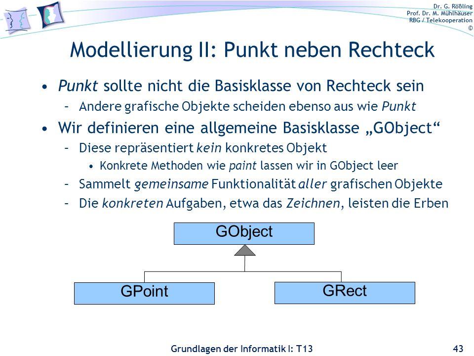 Modellierung II: Punkt neben Rechteck